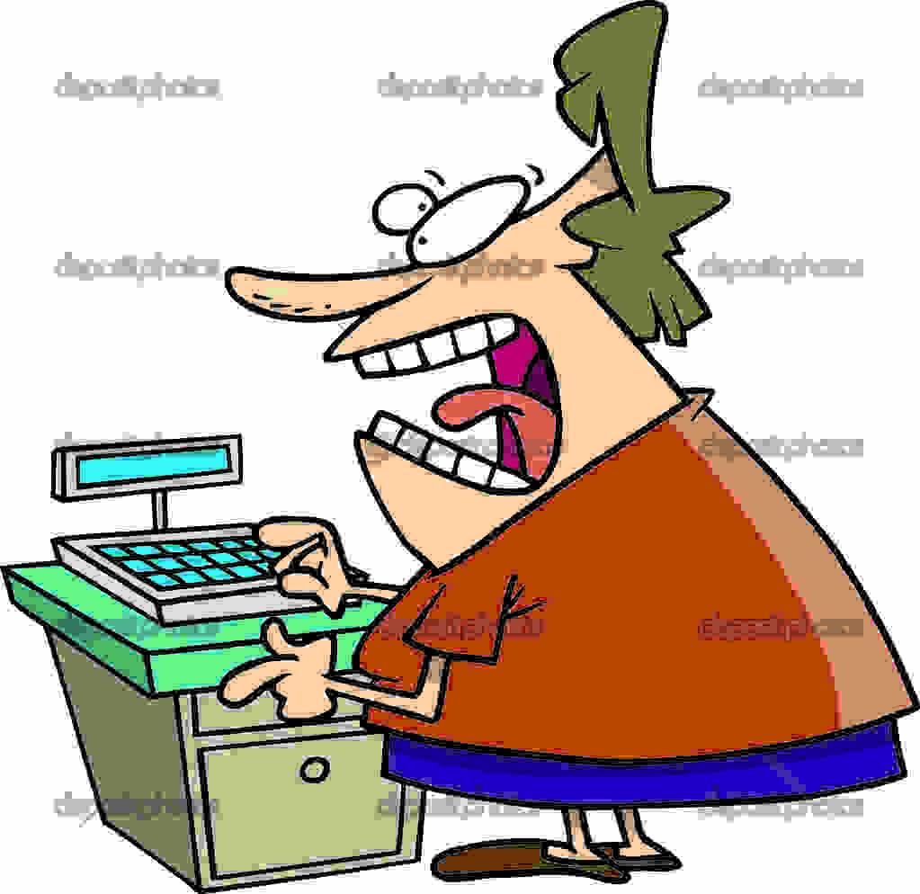 Depositphotos 13941218 Cartoon Angry Cashier
