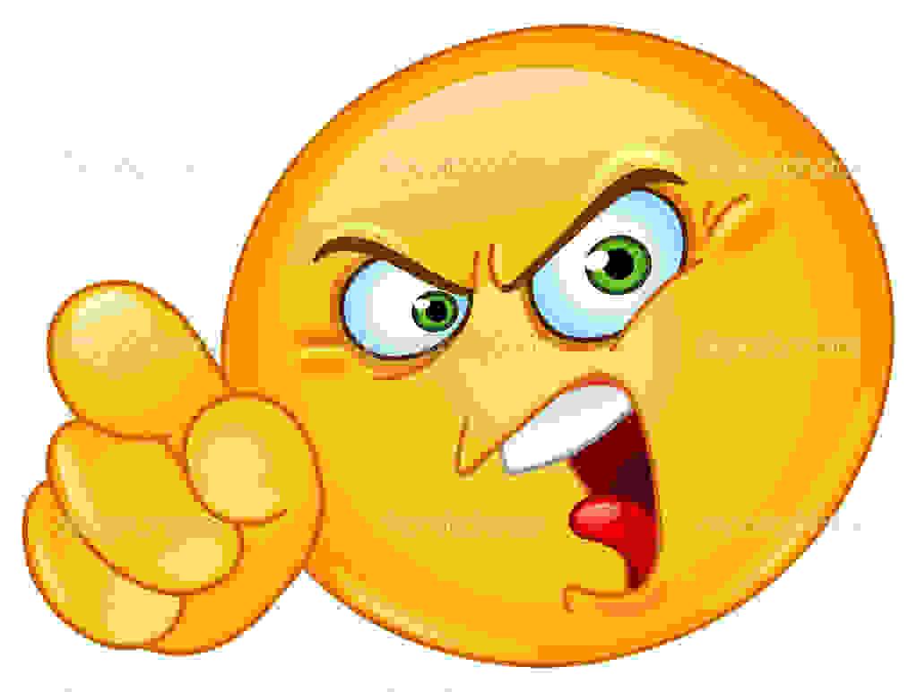 Depositphotos 9746784 Accusing Emoticon