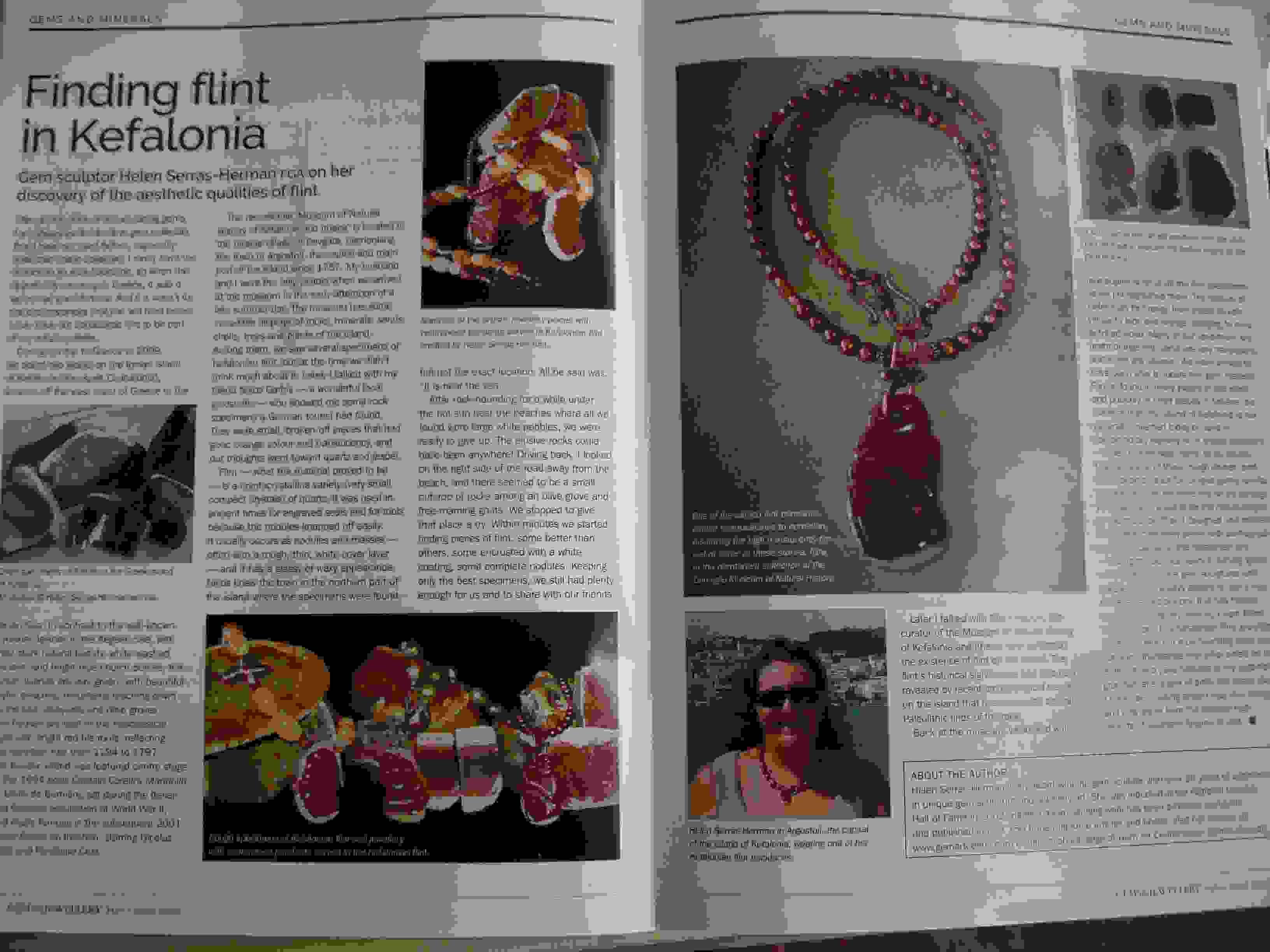 Ο Κεφαλονίτικος Πυριτόλιθος σε εντυπωσιακή παρουσίαση στο μεγαλύτερο γεμμολογικό περιοδικό του κόσμου Gems & Jewellery
