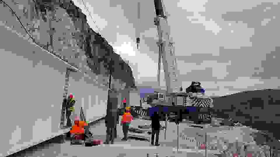 Ολοκληρώνεται το έργο της γέφυρας  στο Χάρακα Κεφαλονιάς