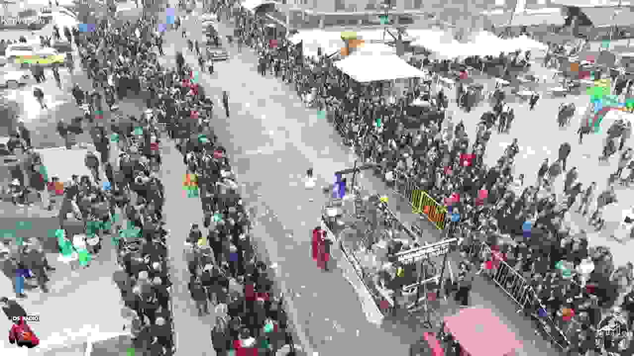 Το Ληξουριώτικο καρναβάλι από ψηλά.