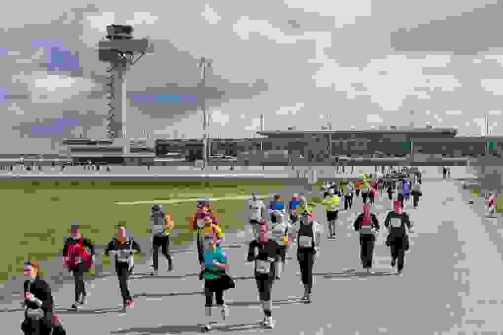 6. AirportRun Auf Der Baustelle Des Künftigen Hauptstadtairports Flughafen Berlin Brandenburg BER