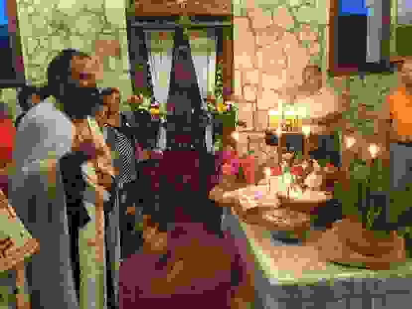 Ο εσπερινός μετ' αρτοκλασίας για τον εορτασμό της Αγίας Μαρίνας στα Προκοπάτα (εικόνες)
