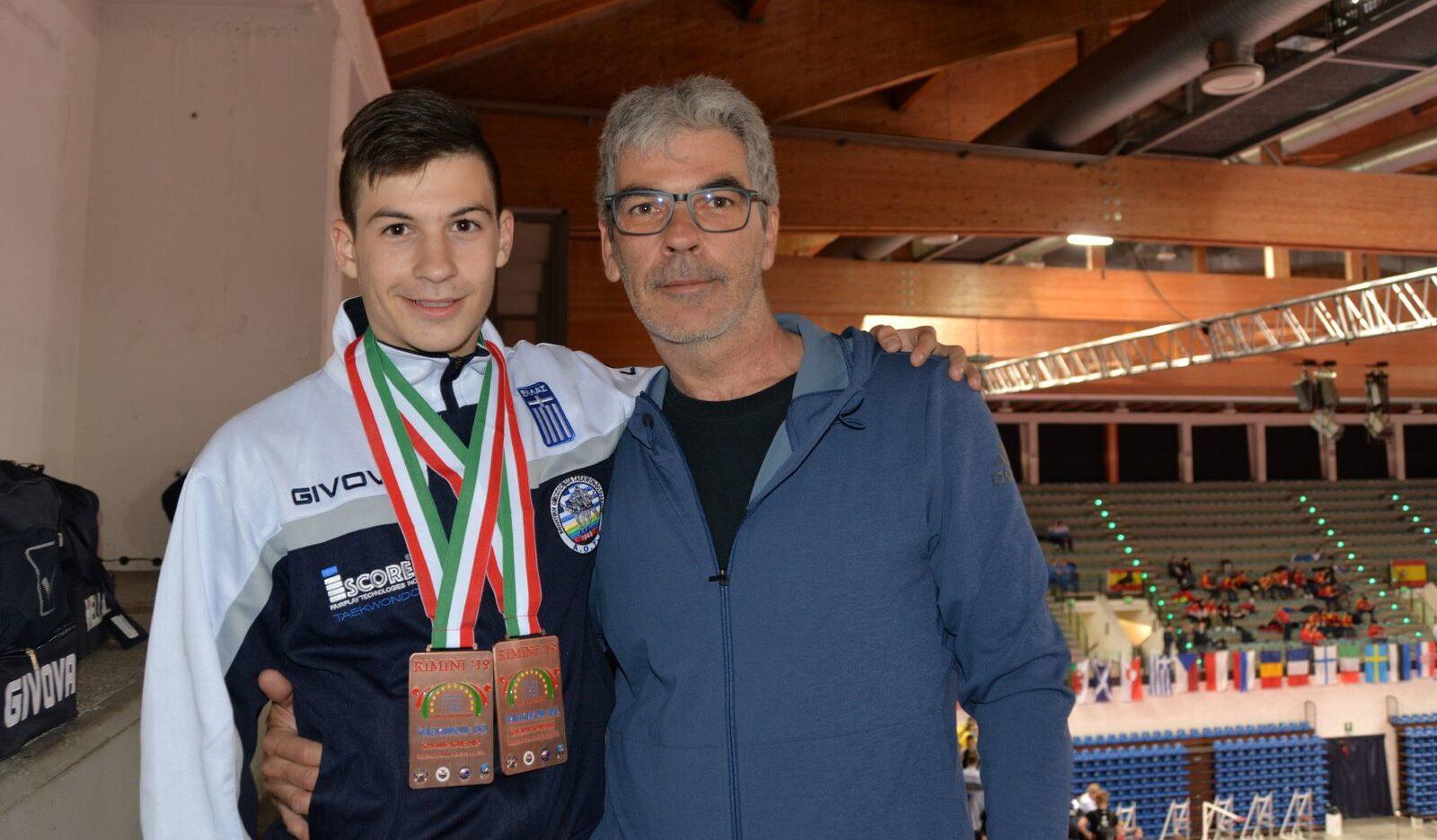 Ένας Κεφαλλονίτης στην κορυφή της Ευρώπης στο ταε κβο ντό -Με δύο μετάλλια επέστρεψε από το Ρίμινι της Ιταλίας ο Σωκράτης Βαλλιάνος [εικόνες]