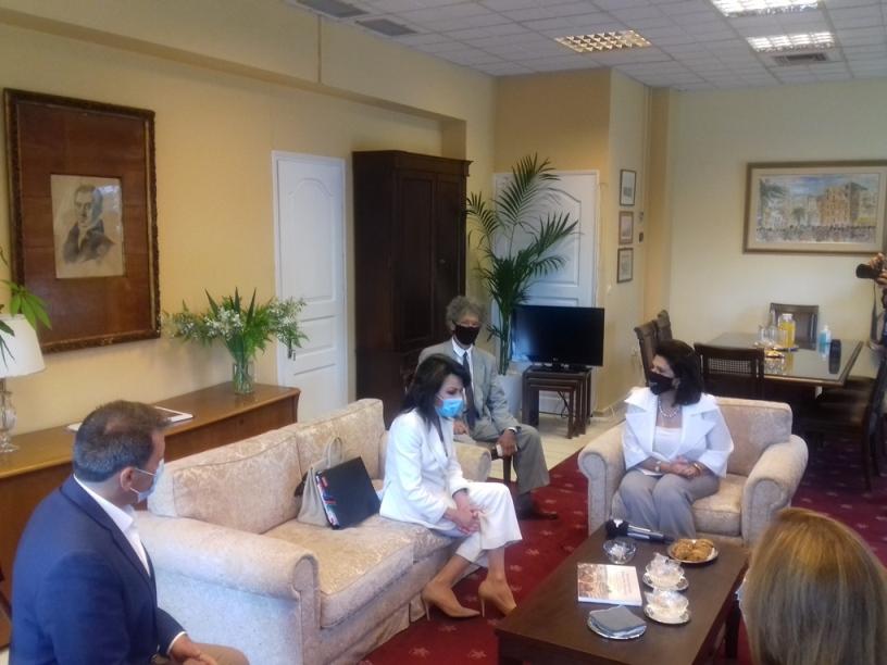 Επίσκεψη της Προέδρου της Εθνικής Επιτροπής «Ελλάδα 2021» Γιάννας Αγγελοπούλου Δασκαλάκη στην Περιφέρεια Ιονίων Νήσων