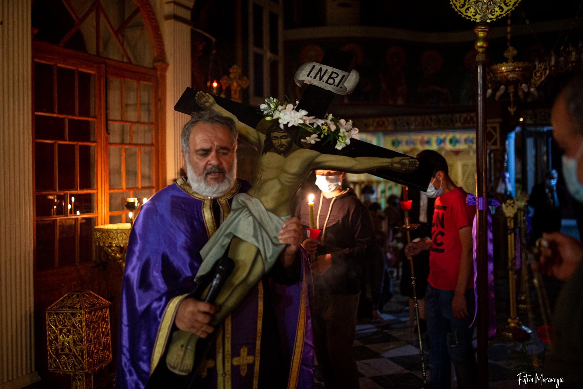 Η ακολουθία των Παθών στον ιερό ναό Παμμεγίστων Ταξίαρχων στα Βαλσαμάτα [εικόνες]