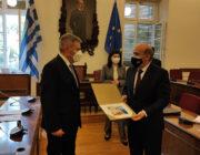 Συνάντηση με τον Υπουργό Εξωτερικών του Λιβάνου ……..