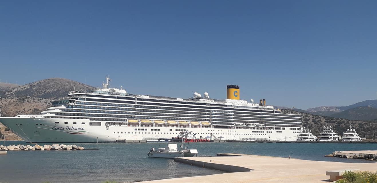 Το Costa Deliziosa πιστά στο Αργοστόλι και το Σεπτέμβριο [εικόνες]